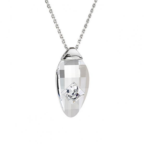 Preciosa Crystal Clear Oval Pendant - Linda