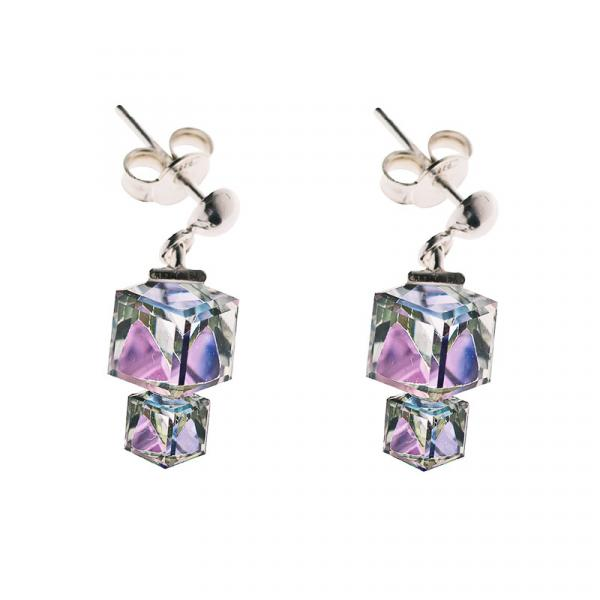 Preciosa Vitrail Light Crystal Earrings, Calypso