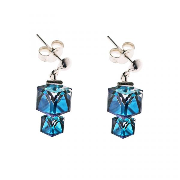 Preciosa Bermuda Blue Crystal Earrings, Calypso
