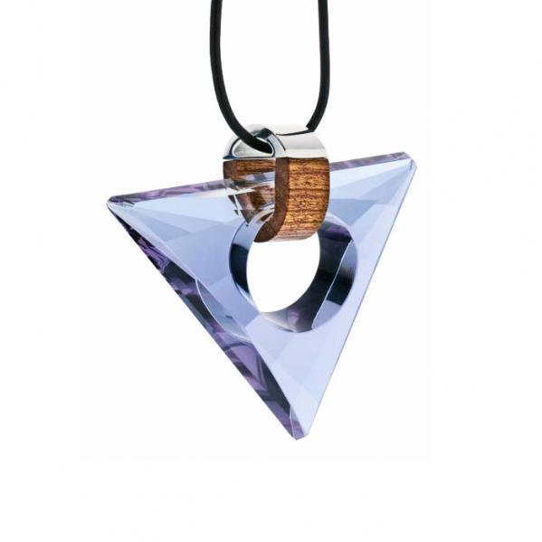 Preciosa Magic Triangle Crystal Pendant Necklace, Alexantrit