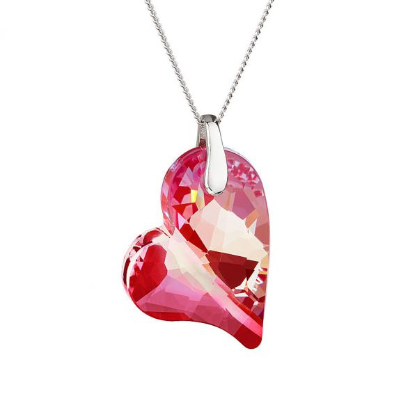 Preciosa Crystal Red Lover's Heart Pendant
