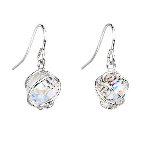 Preciosa Aurora Borealis Crystal Romantic Bead Earrings